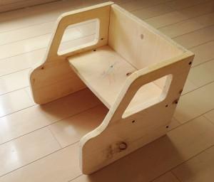 変化椅子を応用して作った新幹線デザインの椅子