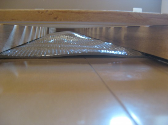 すのこベッドの下にマット