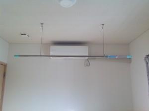 天井吊り式の物干し