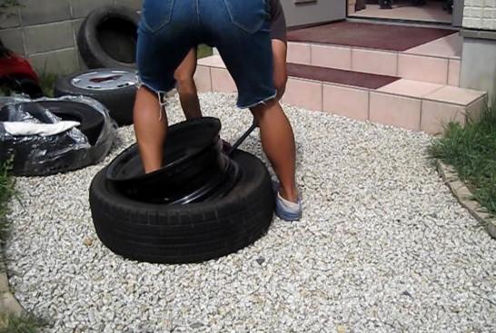 タイヤの取り付け
