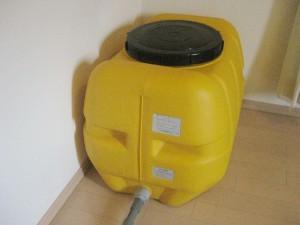 お風呂の残り湯を暖房として部屋にためておくためのホームローリー