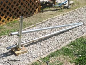 単管パイプで自作したビードブレイカー