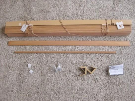 木製ブラインドの中身