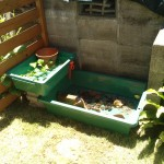 【予算5000円】二段に流れるDIY庭池の作り方