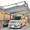 【カーポートDIY】予算2万5千円あれば素人でも作れる実用的なカーポート