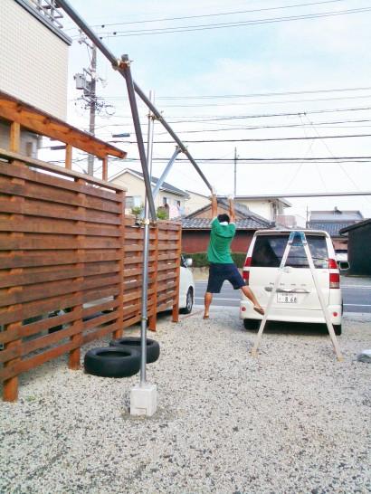 単管DIYカーポートの強度の確認