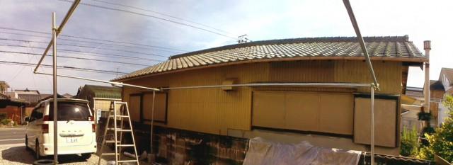 DIYカーポートの屋根の骨組みの基本部分