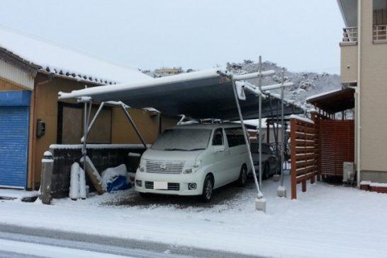 DIYカーポートの積雪
