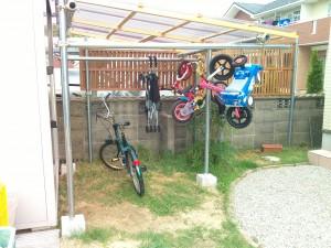 DIY自転車小屋