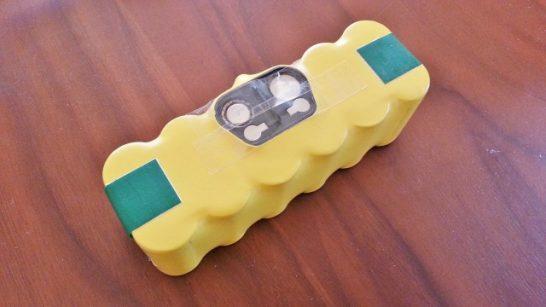 セロテープを貼り付けたルンバのバッテリーを処分