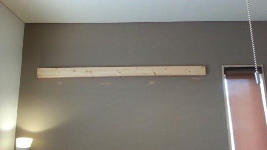 壁掛けギタースタンドのベースが完成