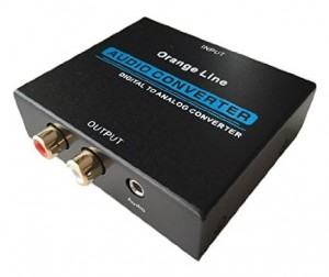 Orange Line 音声 デジタル→アナログ変換器 入力:光&同軸 出力:コンポジット(RCA)&ステレオミニジャック