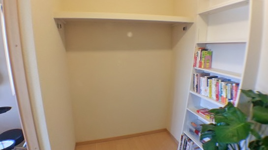 書斎に壁面収納棚を作る前の状態