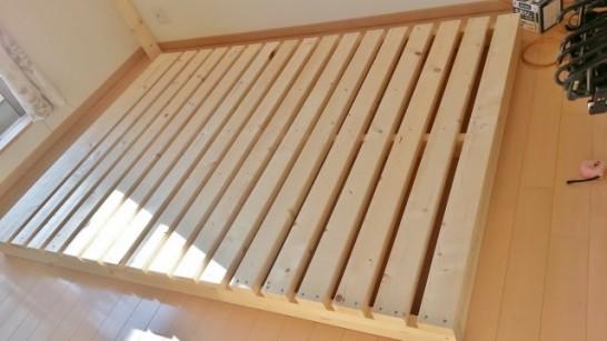二段ベッドの布団を敷く面の部分