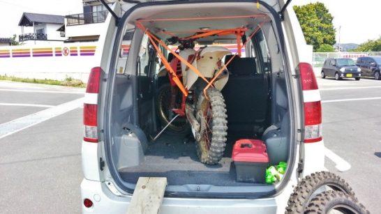 ミニバンをモトクロス(バイク)のトランポ化