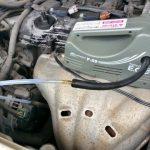 オイルチェンジャーでエンジンオイルを上抜き交換する方法(ノア編)
