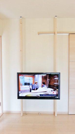 テレビの壁掛け完了