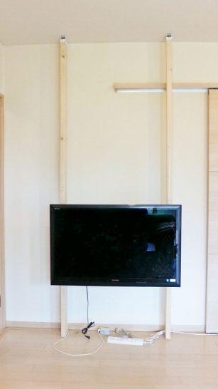 テレビを取り付けた後