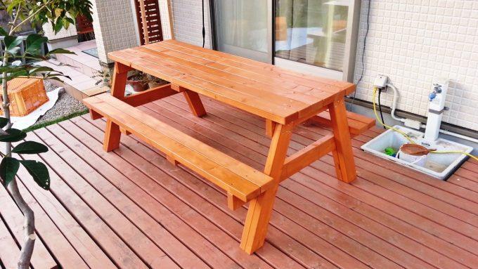 塗装したダイニングテーブル
