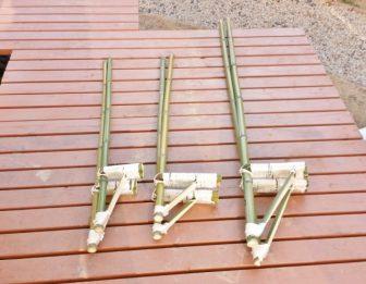 裸足で乗れる竹馬の作り方