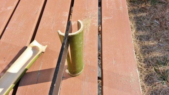 もう少し竹を割る
