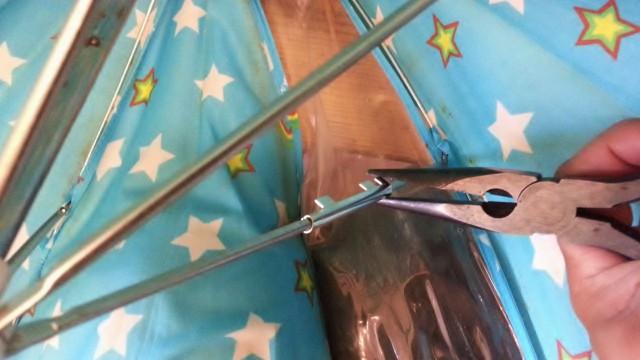 傘の骨折れ修理