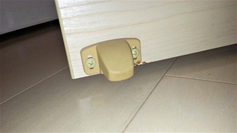 ドアに取り付けられているストッパー