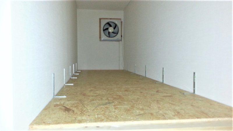 階段上に作る収納物置スペース