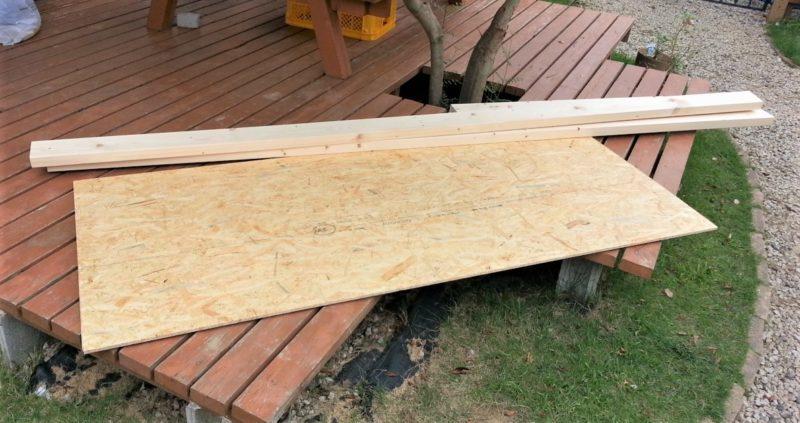 階段上の物置収納を作るための材料