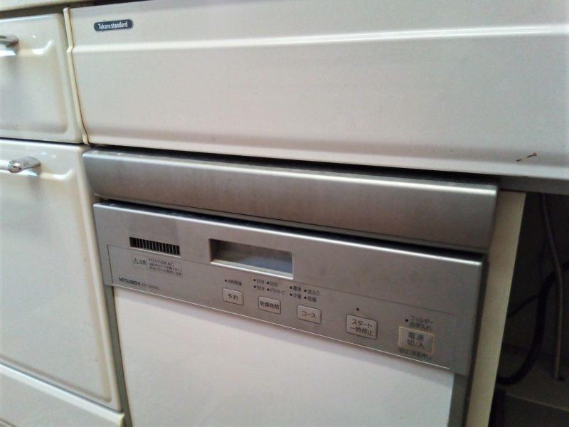 取り外す前の食洗機