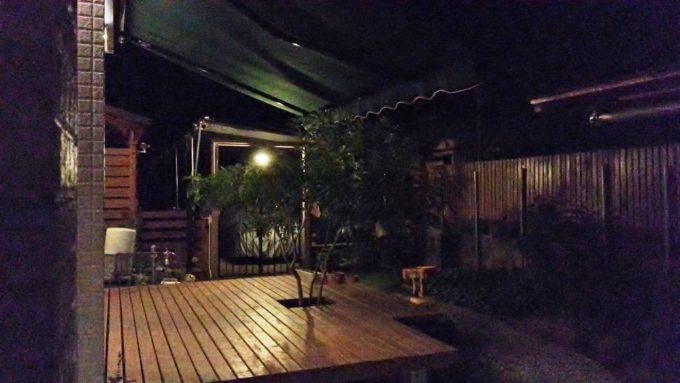 ビアガーデン風のオーニングテント