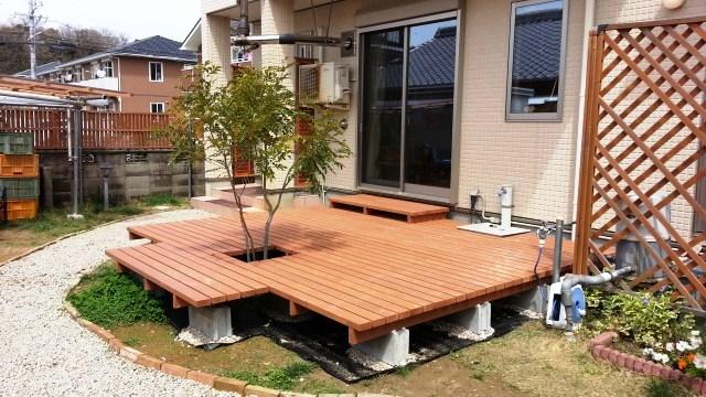 予算5万円で作った簡単DIYウッドデッキ